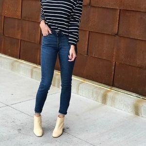 Everlane Mid Rise Ankle Skinny Jeans in Dark Wash